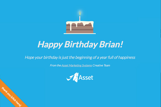 Asset Marketing Systems - Advisor Birthday Page