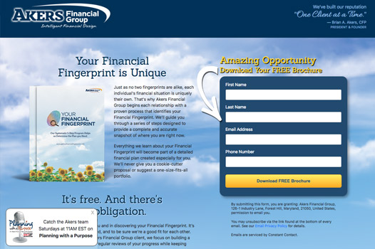Akres Financial Group's Your Financial Fingerprint